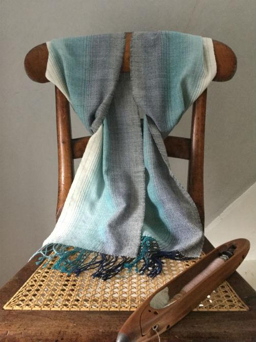 Shallows Fibonacci scarf woven in cotton