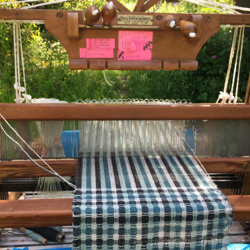 My loom, made by George and John Maxwell
