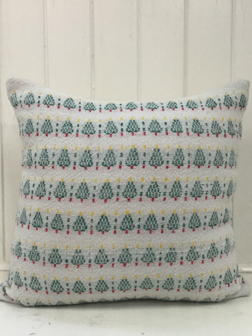 Julgran Christmas Trees Handwoven Merino Cushion