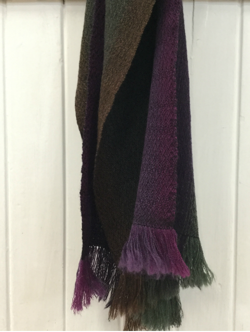 Ewden Moor Heather Merino Handwoven Scarf