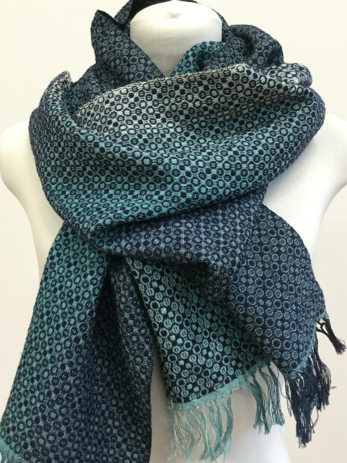 A handwoven scarf from the Coast Collection